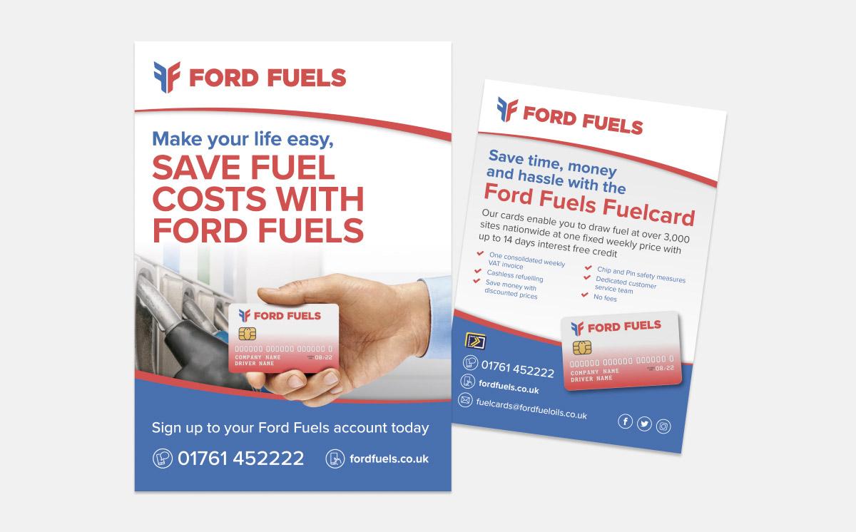 ford fuels leaflet design