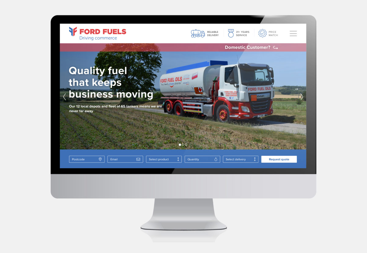 ford fuels web design